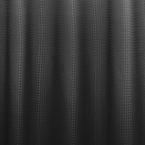 Creative Home Ideas Ombre Waffle Weave Shower Curtain W 12 Rings Dark Grey NEW EBay