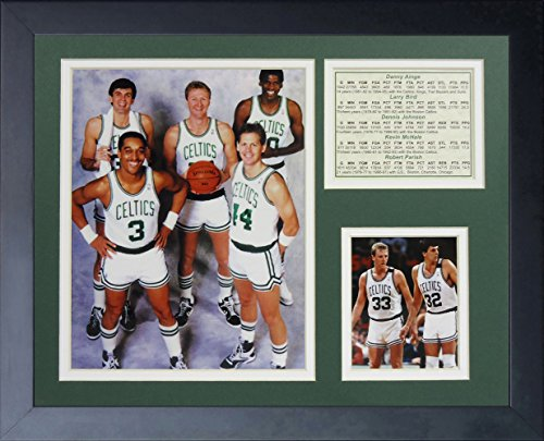 Legends Never Die Boston Celtics 1980's Big Five Collage Photo Frame, 11