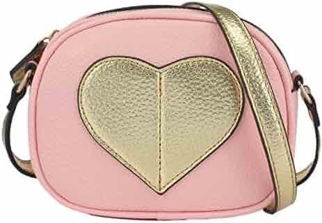 CMK Trendy Kids Mini Heart Shape Kids Purse and Handbags for Little Girls  Cross Body Bag 8052f33c744c8
