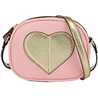 CMK Trendy Kids Mini Heart Shape Kids Purse and Handbags for Little Girls Cross Body Bag for Toddlers