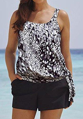 db25f281ee Eternatastic Women Spot Polka Dot Tankini Swimwear Two Pieces ...