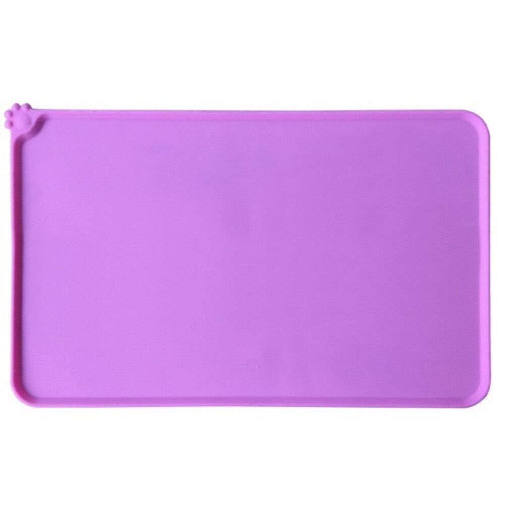 FidgetGear Silicone Pet Feeding Mat Non Slip Pet Food Placemat for Dog Cat Bowls 47x30cm ZZ Red