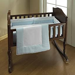 Baby Doll Bedding Ric Rac Cradle Set, Blue