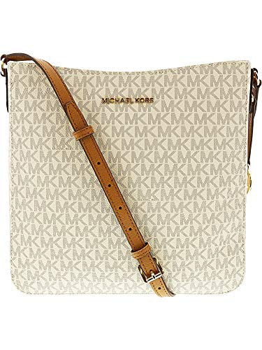 a2c383f4239d7d Michael Kors Women's Jet Set Travel Large Messenger Bag - Vanilla/Acorn