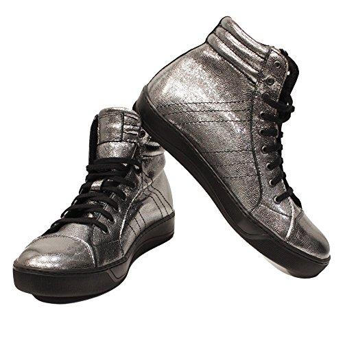 Lacer Chaussures Souple Silviko des de Argent Pour Italiennes Chèvre Handmade Cuir Peau Décontractées Hommes Cuir Sneakers PeppeShoes Modello TwzHg