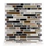 Magictiles Peel & Stick Bathroom/Kitchen Wall Backsplash Tiles , 10.65''x10'' , Set of 40 Tiles
