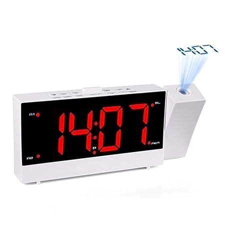 V.JUST Reloj Despertador de proyección, Radio FM Digital ...