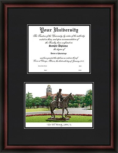 picture of Texas Tech University Diploma Frame & Lithograph Print
