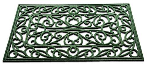 Wrought Iron Design Dual Side Indoor / Outdoor Doormat; Combination of Flock and Rubber; 30 inch by 18 - Design Mat Door Iron