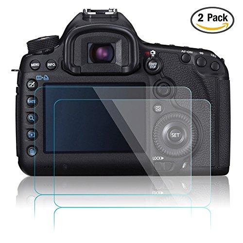 Kamera Display Schutz für Canon EOS 5D Mark III MK IV 5DS 5DSR 5DIII 5DIV, AFUNTA 2 Pack Anti-Kratzer entspiegelt gehärtetes Glas für DSLR-Kamera