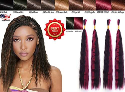 Wet N Wavy Bulk hair QUALITY HAIR Micro Braiding Super Bulk Style 2 Packs (4 Bundles) DEAL Length 18 Inch (OMBRE #1B/#BG) (Best Wet N Wavy Braiding Human Hair)