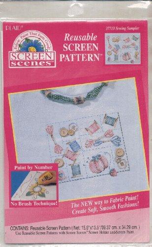 Sewing Sampler - Reusable Screen Pattern - Plaid #37713