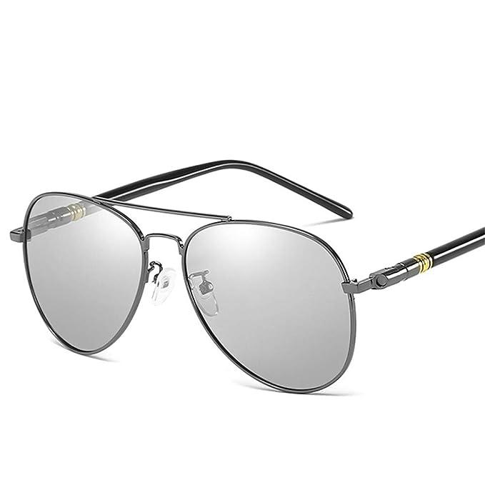 NIFG Gafas de sol polarizadas de día y de noche Gafas de sol retro clásicas  de dos colores fa43047e1fa6
