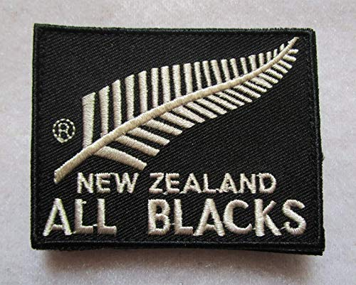 New Zealand National Rugby Union Team All Blacks 3D Tactical Military Badges Embroidered Patch Back with Loops and Hook