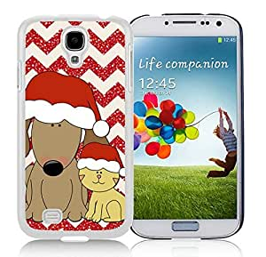Personalization Samsung S4 TPU Protective Skin Cover Christmas Dog and Cat White Samsung Galaxy S4 i9500 Case 1