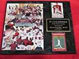 2006 St Louis Cardinals World Champions 2 Card Collector Plaque w/8x10 Composite Photo