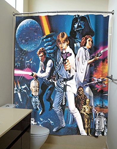 Robe Factory Star Wars: A New Hope Movie Poster Shower Curtains -
