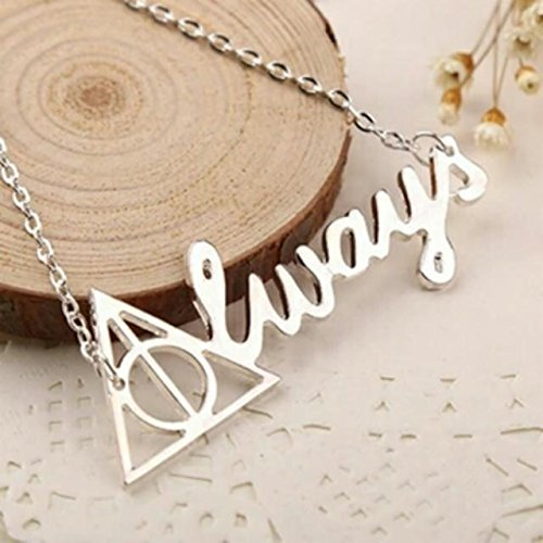 Silver Harry Potter 'Always' Necklace - Harry Potter Necklace/Always Necklace/Severus Snape Necklace/Harry Potter Jewelry (Harry Potter Jewelry Necklace)