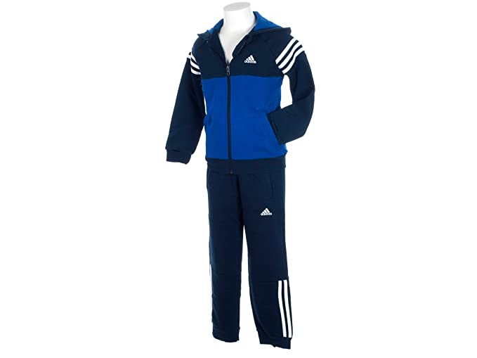 7aee11da3 adidas Junior Boys Kids Hooded Full Zip Fleece Tracksuit in Navy: adidas:  Amazon.co.uk: Clothing