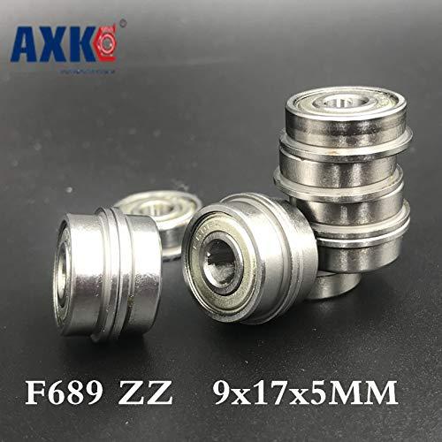 Ochoos New Hot Sale Steel Rodamientos Thrust Bearing F689 Zz ABEC-1 (10pcs) 9x17x5mm Flanged Ball Bearings F618/9zz