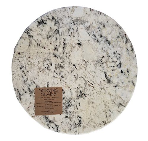 Handmade Reclaimed Granite Lazy Susan with Rough Chiseled Edge, 17