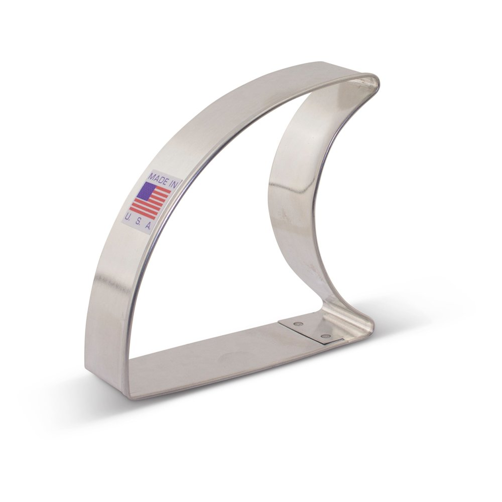 Shark Fin Cookie Cutter - 3.13 Inch - Ann Clark - US Tin Plated Steel