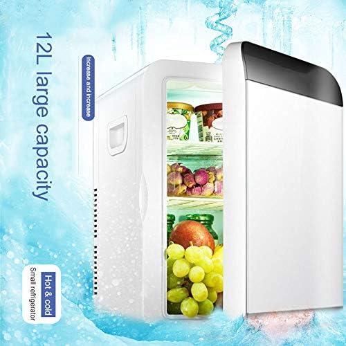 ポータブルカー冷蔵庫冷凍庫、12Lミニカー冷蔵庫トラベル食品電気冷凍庫クーラーボックスオフィス12V,1