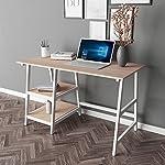 DlandHome 120 * 60 Medium Computer Desk, Composite Wood Board, Home Office Desk/Workstation/Table with 2 Shelves, Black…
