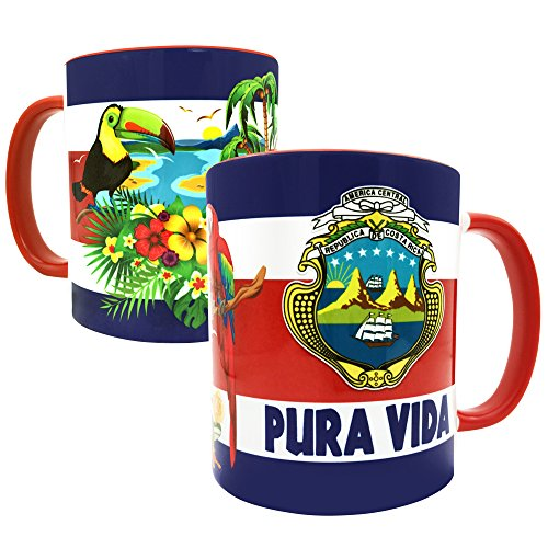 Gio Gifts Costa Rica Mug Pura Vida Coffee/Tea 11 Oz Cup Mug