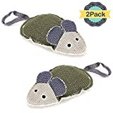 ONSON Dog Chew Toys - Interactive Pet Teeth Cleaning Chew Toys - Squeak Little Mouse Shape Linen Pet Training Products - For Small Medium Large Dogs and Cats (Pack of 2)