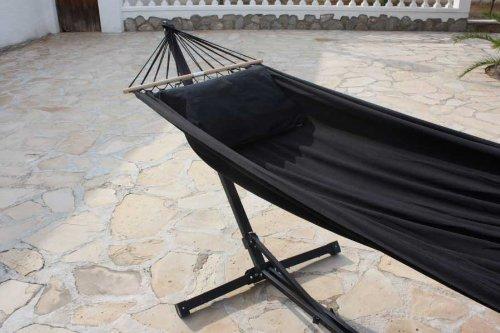 Multifunktionsgestell 3-teilig Hängematte Black und Kissen