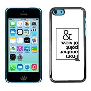 Caucho caso de Shell duro de la cubierta de accesorios de protección BY RAYDREAMMM - Apple iPhone 5C - Of View White Inspiring