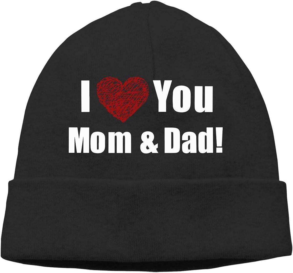 I Love You Mom Unisex Sweat Wicking Cycling Beanie Skull Cap