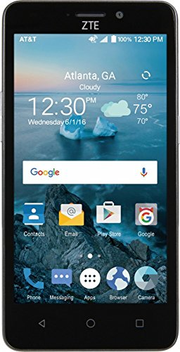 New AT&T ZTE Maven 2 4G LTE with 8GB Memory Cell Phone – Dark Gray