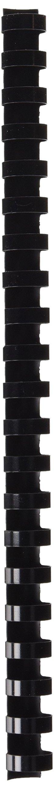 5 Etoiles ETL-915943 Comb Binding Spines 16 mm Plastic Pack of 100 Black
