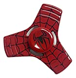 Red Spiderman FIDGET Spinner Toy for relieving ADHD, Anxiety, Boredom EDC Tri-Spinner Fidget Toy Smooth Surface Finish Ultra Durable Non-3D printed by Harmony101