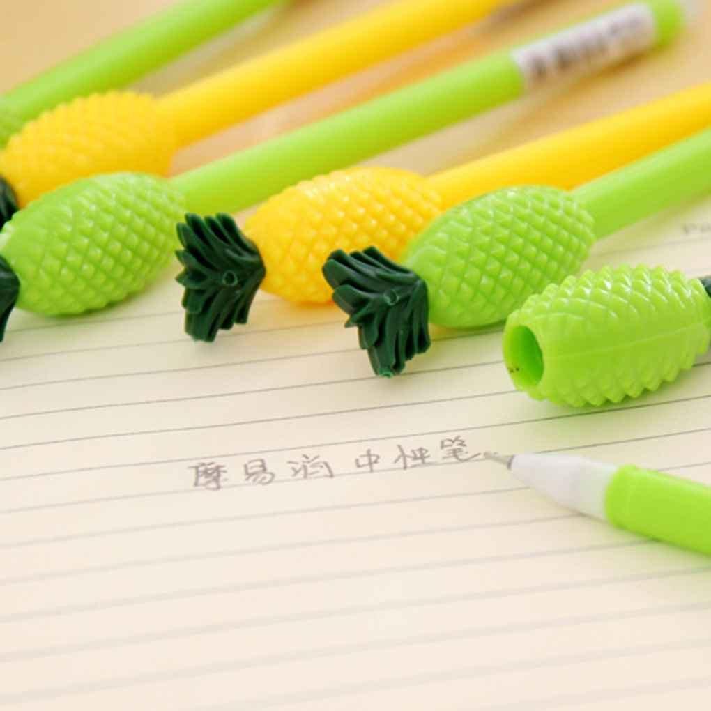 Lorjoy 1 Piece Cute Cartoon Pineapple Pen Publicit/é Creative /École Bent Bureau Gel Stylos(Couleur Al/éatoire)