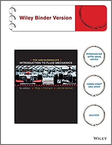Amazon fox and mcdonalds introduction to fluid mechanics fox and mcdonalds introduction to fluid mechanics binder ready version 9th edition fandeluxe Choice Image