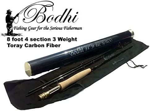 Bodhi Toray Carbon Fiber Fly Rod 3 Weight 8 Foot 4 Inch 4