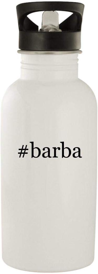 #Barba - Stainless Steel Hashtag 20Oz Water Bottle, White