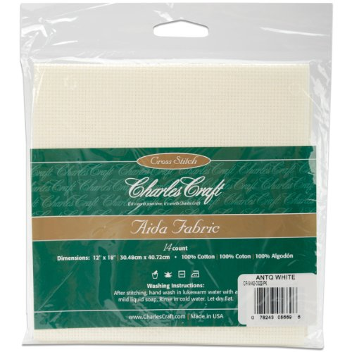 Charles Gold Yarn (DMC CR5442-0322 Classic Reserve Aida, 12 by 18-Inch, Antique White, 14 Count)