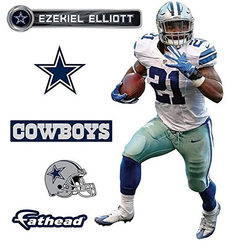 FATHEAD Ezekiel Elliott Dallas Cowboys Logo Set Official NFL Vinyl Wall Graphics 16