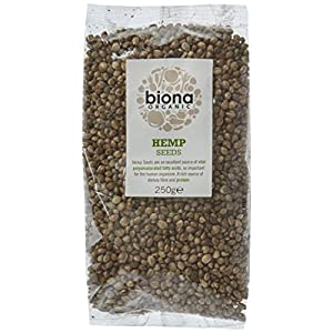 Biona Organic Whole Hemp Seeds 250g (Pack of 4)
