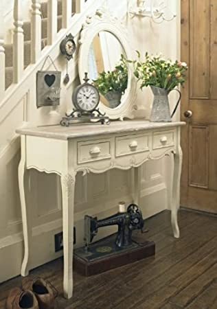 the latest 44ed7 48f43 Melody Maison Cream Wooden Console Hallway Table Drawers - Country Ash Range