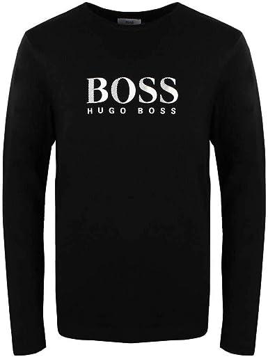 Hugo Boss - Camiseta de Manga Larga - para niño Negro 10 Años: Amazon.es: Ropa y accesorios