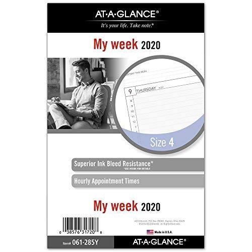 - AT-A-GLANCE 2020 Weekly Planner Refill, Day Runner, 5-1/2