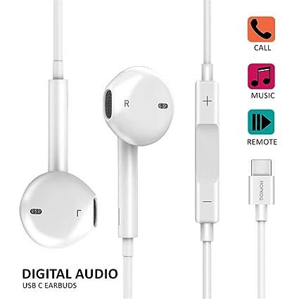C Earbuds USB c Earphones C-Type Headphones Hopkog C Headphones USB-C Hi-Fi  Digital Stereo Compatible with iPad pro 2018 Galaxy A8S Pixel 2/2XL 3/3XL