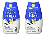 SweetLeaf Vanilla Sweet Drops Liquid Stevia Sweetener (Pack of 2) With Stevia Leaf Extract and No Artificial Sweetness, 1.7 fl. oz. (50 mL).