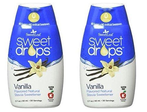 SweetLeaf Vanilla Sweet Drops Liquid Stevia Sweetener (Pack of 2) With Stevia Leaf Extract and No Artificial Sweetness, 1.7 fl. oz. (50 mL). by SweetLeaf