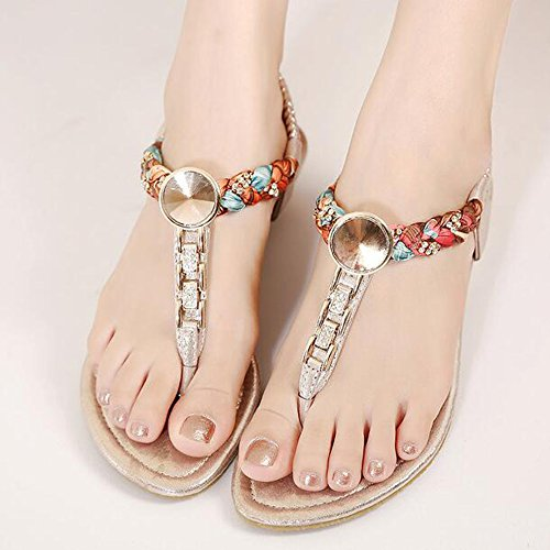 SUNAVY - Zapatos con tacón Mujer dorado